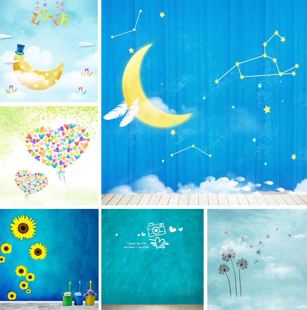 1.5*2.2 m Computer-printed vinyl Photo backgrounds newborn Photography backdrops studio 5161 - JOYL Co.,Ltd store