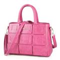 Trendy Splicing PU Handbag Women Fashionable Large Bag All match Korean Style Ladies Shoulder Bag Simple