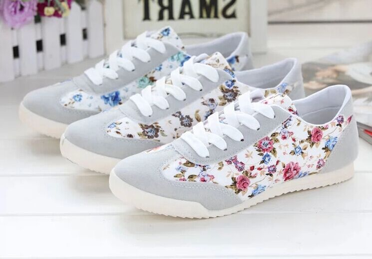 Spring autumn soft bottom women's Pisos flats shoes 2015 sweet floral round Female student women casual - Fashion Shop 7 store