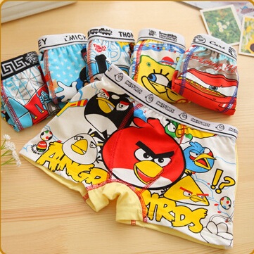 Free shipping 6pcs/lot baby boys underwear children kids cotton cartoon panties boys boxer briefs children fashion underpants(China (Mainland))