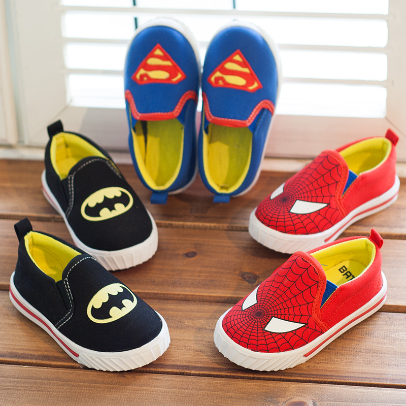 Children Superman Spiderman Batman Shoes 2015 New Girls Boys Christmas / Halloween Sneakers Size 21-35 - Red Style Trade Co. Ltd store