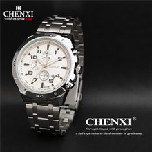 CHENXI Watches Mens Top Brand Luxury Fashion Casual Sports Military Wristwatches Quartz Watch Men Relogio Masculino waterproof