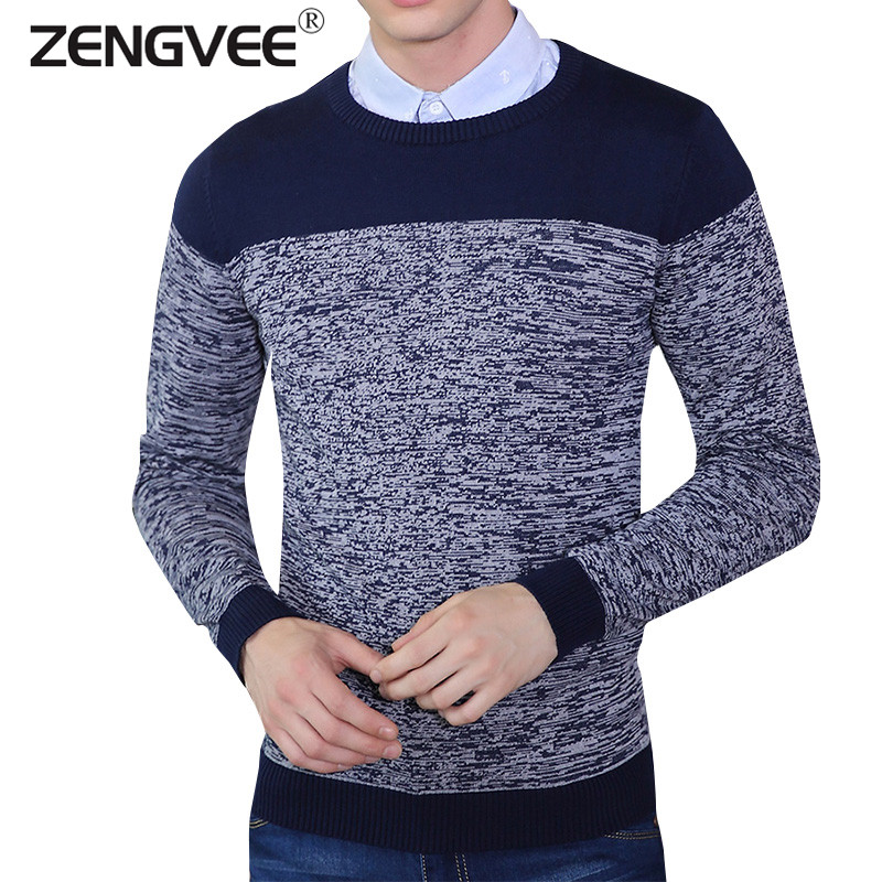 2016 New Arrival Men's Cotton Sweater Thin Casual Slim Fit Long Sleeves Knitted Men Pullovers Sweaters Mens Clothing(China (Mainland))