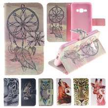 Buy Animal Wallet Case Samsung Galaxy J1 2016 Case Leather & Silicone Flip Cover Coque Samsung Galaxy J1 2016 J120 Phone Case for $4.13 in AliExpress store