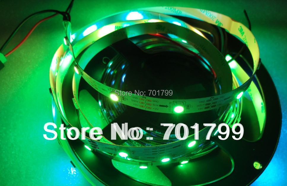 5m DC5V WS2812B led pixel srip,non-waterproof,30pcs WS2812B/M with 30pixels;36W;white pcb;4pin