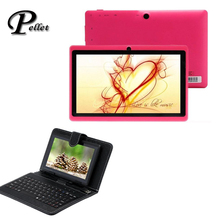 """US stock! Q88 7 inch Tablet PC Android 4.2 8GB A23 Dual Core 4GB 7"""" WIFI Bundle 7"""" USB Keyboard Case(China (Mainland))"""