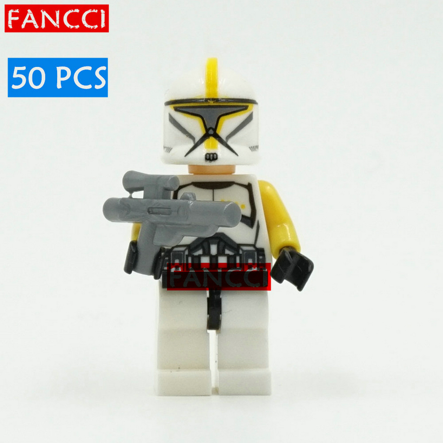 5 STAR WARS Clone Commander War Force Awakens Minifigures Building Blocks Kid Toy Lego Compatible