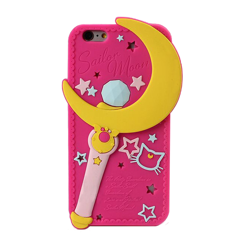 2016 Newest Fashion 3D Cartoon Japan sailor moons bow cat soft silicone case cover Iphone 5 5s se/5c/6 6s/6plus 6splus - Bird Tree store