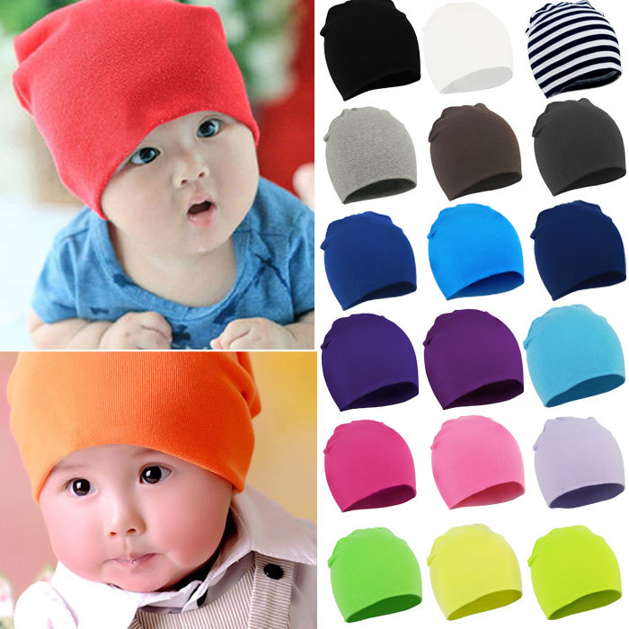 High Quanlity 2015 New Unisex Newborn Baby Boy Girl Toddler Infant Cotton Soft Cute Hat Cap Beanie For Baby 20 Color(China (Mainland))