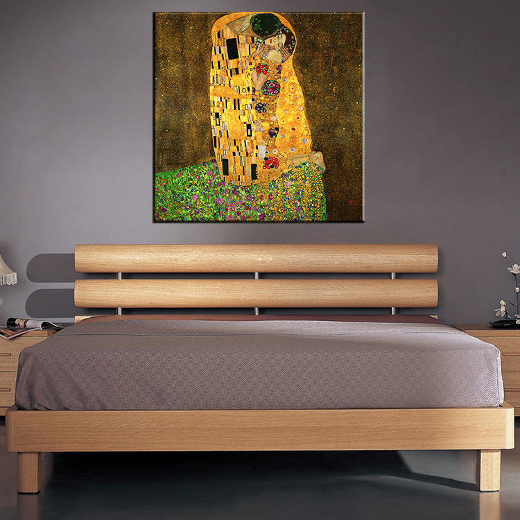 Original famous paint the kiss by gustav klimt wall painting for home decor oil painting art - Home decor promo code paint ...