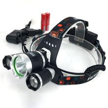 3 из светодиодов 5000 Lumens прожектор нью-cree XM-L T6 лампы высокой мощности из светодиодов лагерь + 2 шт. 18650 4200 мАч устройство + автомобильное зарядное устройство