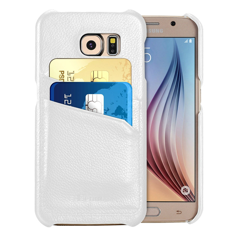 For Samsung S6 Case Benuo Genuine Leather Soft Corrected Grain Leather Case Wallet Style Leather Case Back Cover for Samsung S6(China (Mainland))