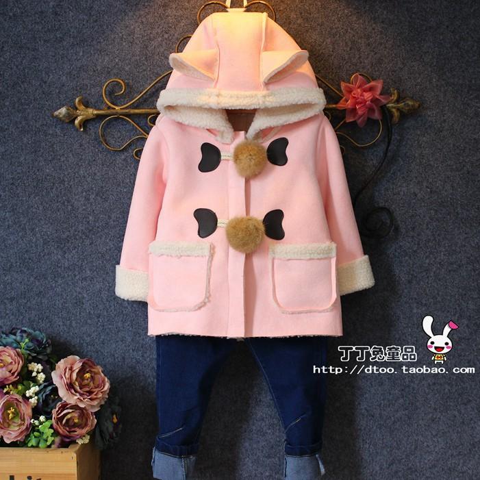Корейские девушки новой детской одежды замши с капюшоном кашемировый кардиган куртки европейский и американский мода пальто