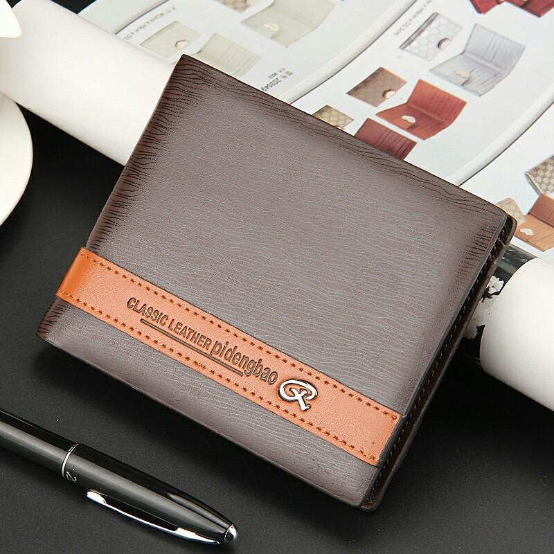 New Fashion Short Mini Men Wallets PU Leather Business Card Purse Simple Design Man Clutch Money Bag ID Holder Wallet<br><br>Aliexpress