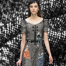 Buy 2017 fashion Limited hot sale Imported weaving tweed wool cotton blended fabric for dress coat tissu au meter bright cloth DIY for $59.90 in AliExpress store