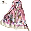 Autumn Winter Warm Cashmere Scarfs Women Pink Pashmina Scarves Cute Owl Shawls Ladies Brand Designer Scarf