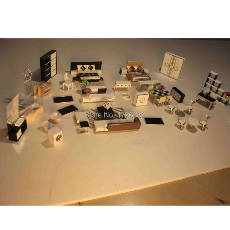 Scale Model Building Materials Model Furniture Set For 1