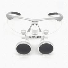 Nuevas adquisiciones! 3.5X lupas binoculares uso médico dentales ajustables manifier con vidrio óptico en color plata