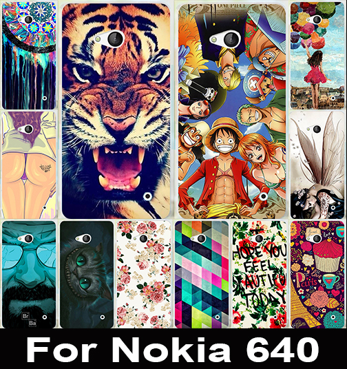 DIY Painting Phone Case For Microsoft Nokia Lumia 640 Luxury PC Fantastic Picture Drawing Hard Back Shell Phone Cases Cover(China (Mainland))
