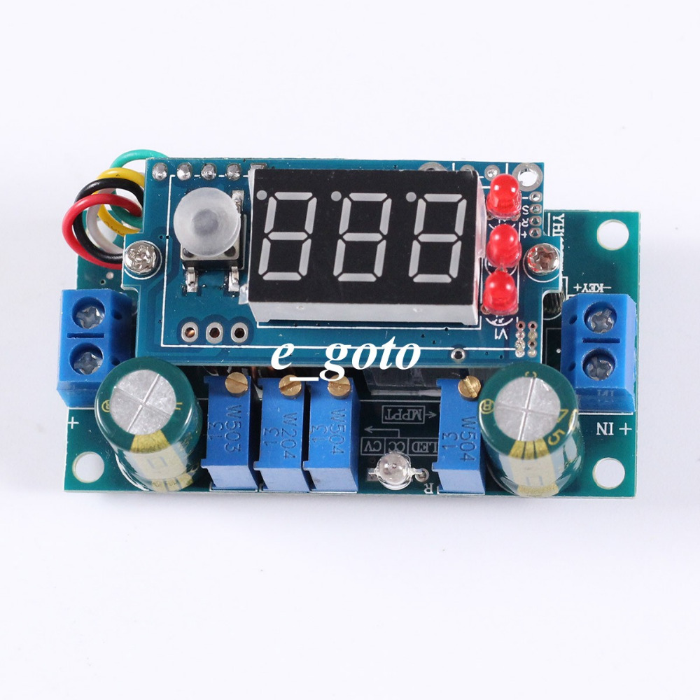 digital cc  cv battery charging module with led