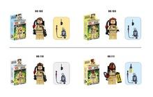 4 pz/lotto ghostbuster omini building blocks figure modello giocattoli dei mattoni compatibile con lego  (China (Mainland))