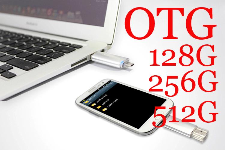 OTG USB stick 128GB 256GB 512GB usb flash drive usb 2.0 Memory Stick phone USB Pen Drive gift(China (Mainland))