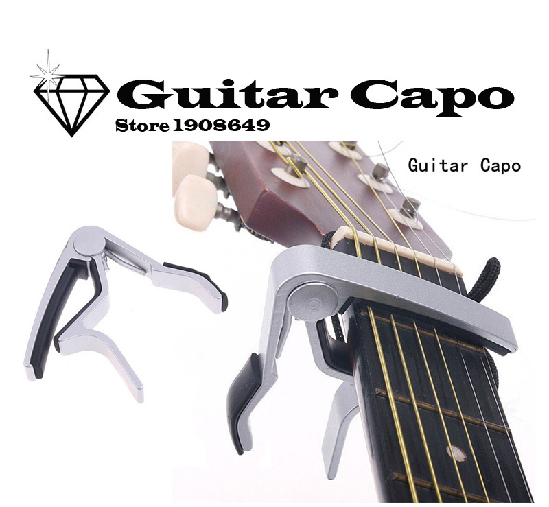 High Quality Aluminium Alloy Silver Quick Change Clamp Key Acoustic Classic Guitar Capo For Tone Adjusting Hot cejilla guitarra(China (Mainland))