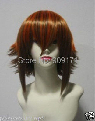 free Shipping******New COSPLAY Modelling style Yugioh Jaden Yuki COS Wig(China (Mainland))