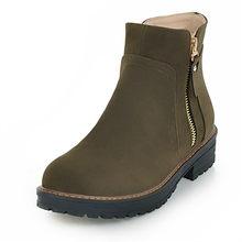 MoonMeek thời trang mới 2020 big size 34-43 giày ấm nữ mùa đông Giày Med cao mũi tròn đàn giày bốt nữ cổ chân giày(China)