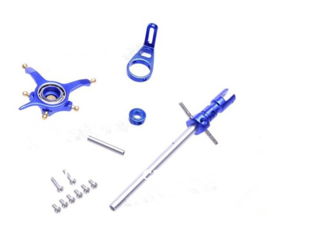 WLToys WL Toys V911 4CH 2.4G Micro RTF Helicopter CNC Alloy Metal Upgrade set blue- shipping free