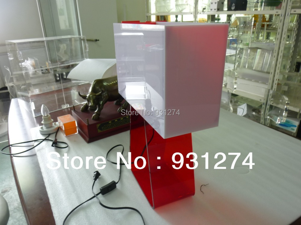 Coloured Acrylic Table Top Reading Lamps,Lucite Wall Mountained Lighting,Perspex Lights,Plexiglass Home Decor(China (Mainland))