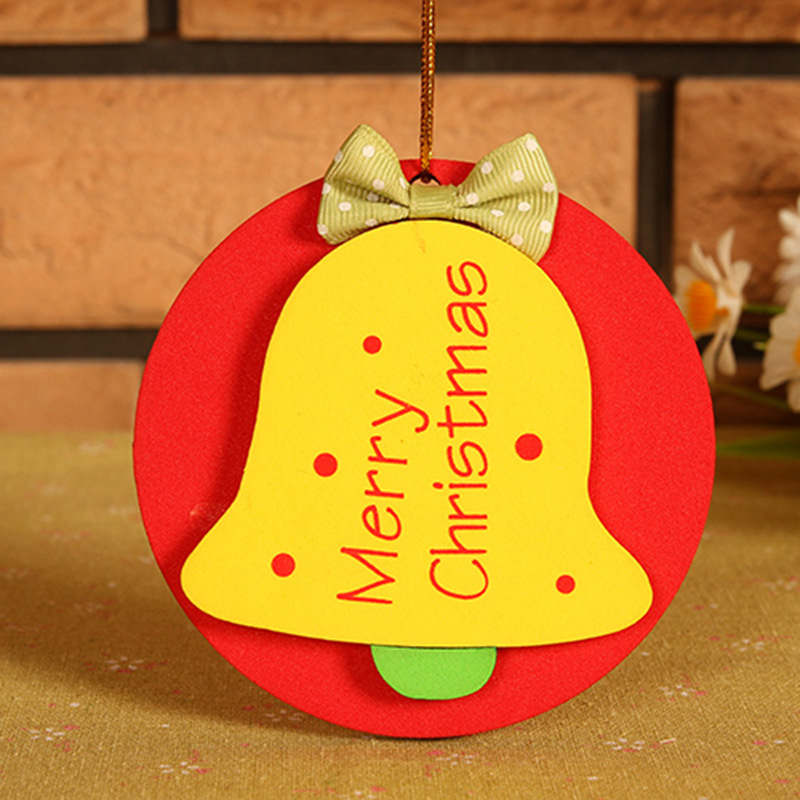 Multicolor felt fine cloth bell cristmas decoration merry for New christmas decorations