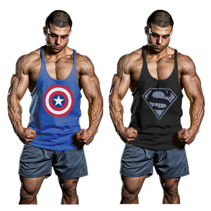 Gym LOA Fit Stringer Tank Top Men Bodybuilding Shirt Clothes Regata Fitness World Tanks Sports Vest Singlet - Brand New store