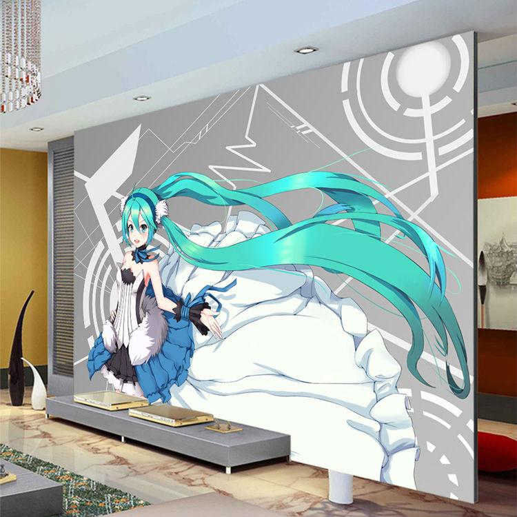 hatsune miku wallpaper custom 3d photo wallpaper japanese art wall decor japanese wall murals pictures