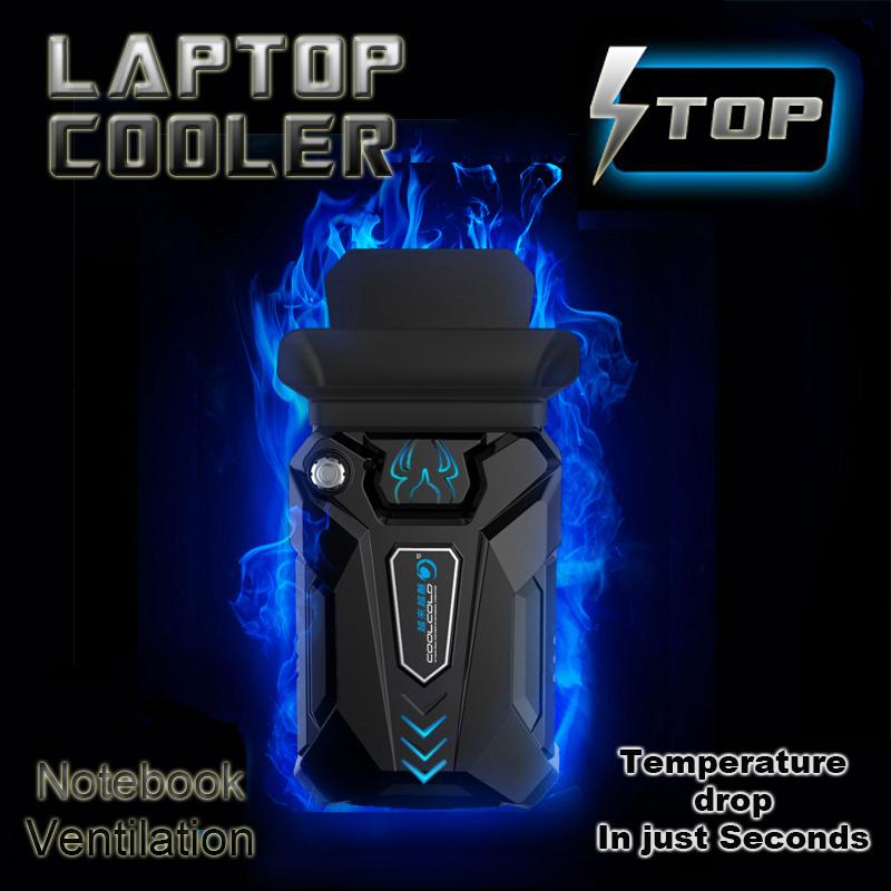 High Performance suction type external laptop cooler usb fan turbine technology suporte para notebook Ventilation cooling pad(China (Mainland))