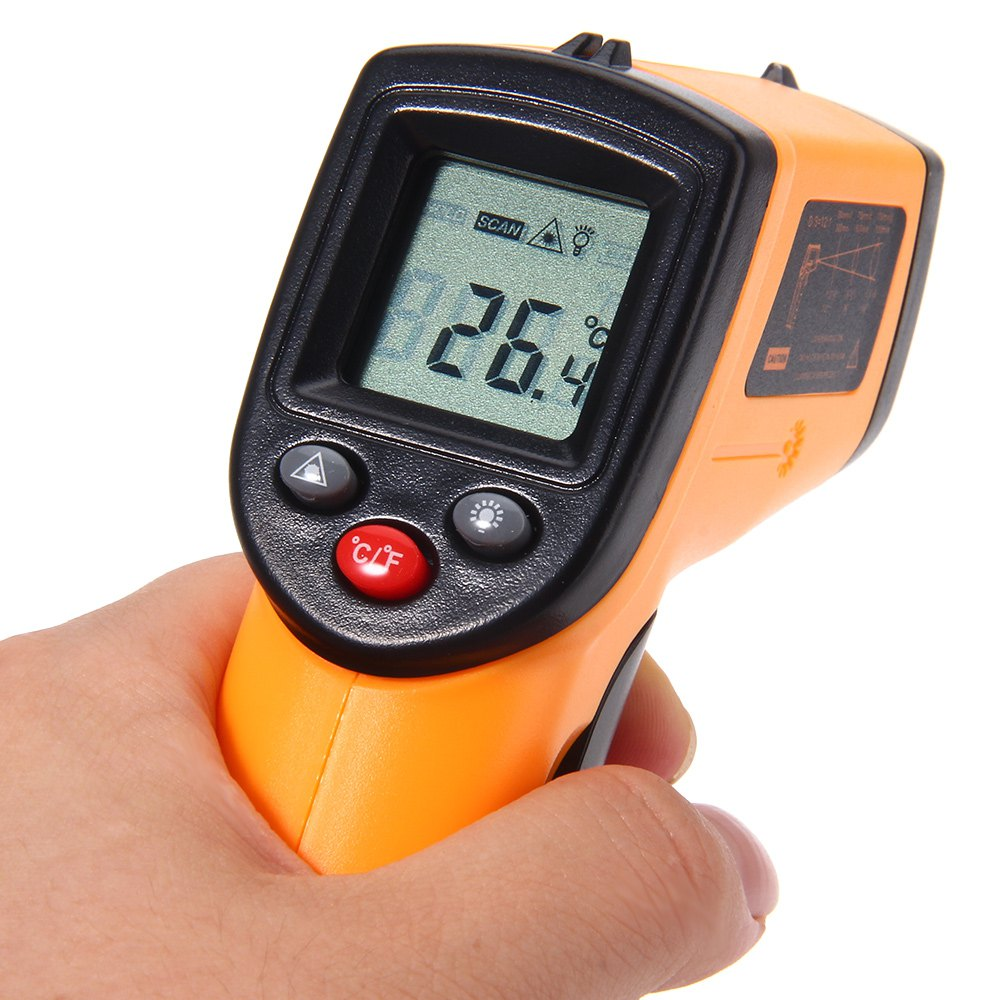 GM320 Digital Laser LCD Display Non-Contact IR Infrared Thermometer -50 to 380 C Auto Temperature Meter Sensor Gun(China (Mainland))