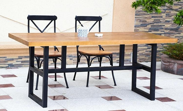 Muebles de comedor de hierro forjado 20170719180052 for Mesa y sillas madera