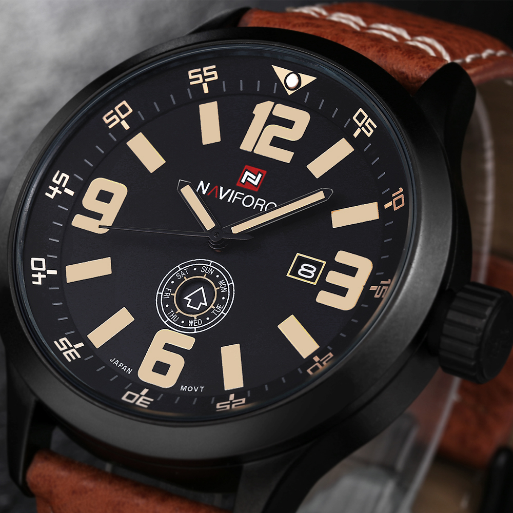 2016 Watches Men Luxury Brand Casual Watch Quartz Men Leather Military Sport Diver Quartz Clock Men Wristwatch relogio masculino<br><br>Aliexpress