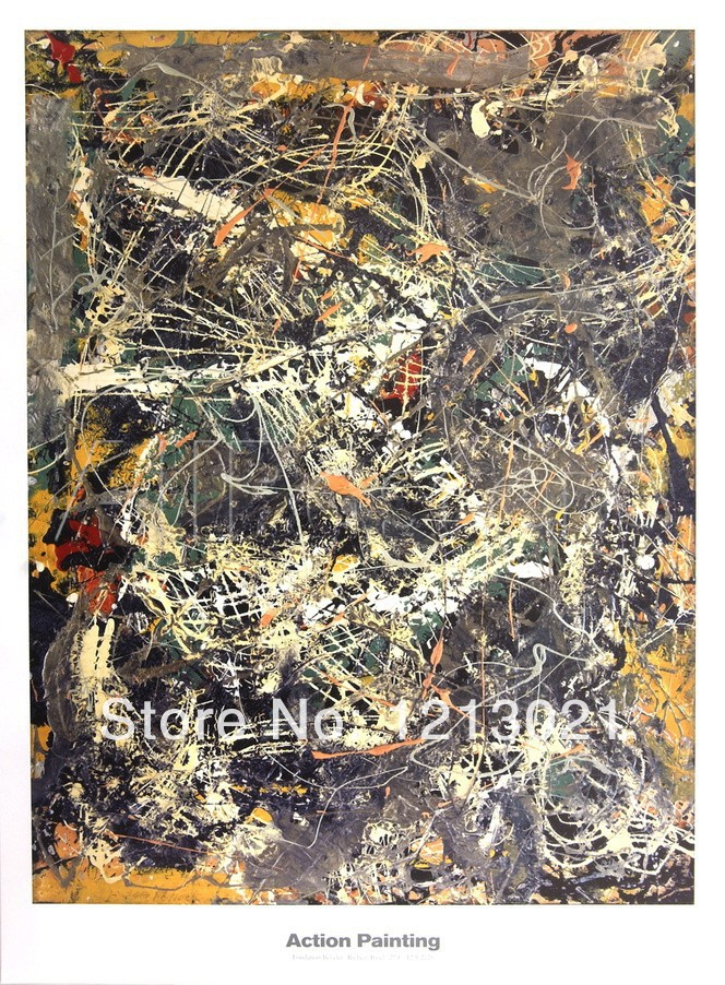 Untitled 1949 By Jackson Pollock - high quality oil paintings reproduction ,hand-painted(China (Mainland))