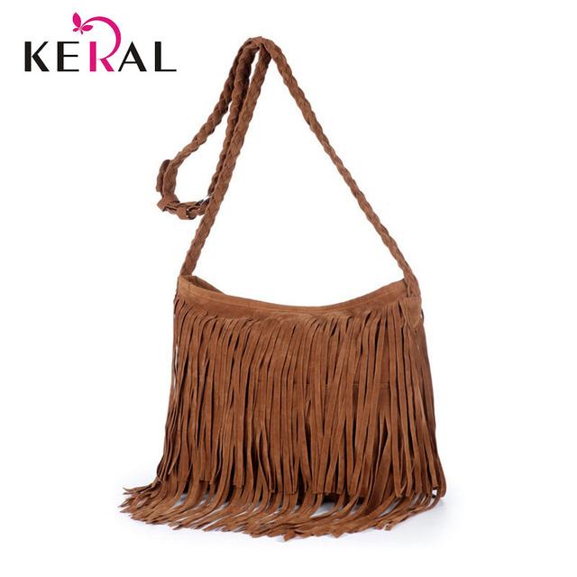 Hot Sale Tassel Women PU Leather Handbags Cross Body Shoulder Bags Fashion Messenger Bags 6 Colors Available