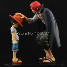 Free Shipping Japana Anime One Piece Luffy and Shanks Memory Version PVC Action Figure Toys 17cm, Film Vision Design