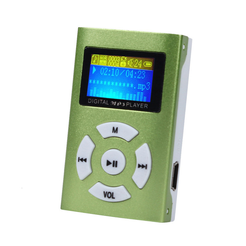 1pcs China Brand New High Quality Portable MP3 LCD Screen Metal Mini Sport MP3 Player With Micro TF/SD Card Slot Music players(China (Mainland))