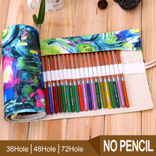 Buy Pencil Case School 36/48/72 Holes Portable Canvas Roll Pencil Case Students Stationary Storage Bag Pouch Painting for $6.19 in AliExpress store