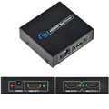 1080P 2 Way HD HUB 1x2 HDMI 3D Splitter Amplifier Repeater Switcher Adapter for HDTV SKY