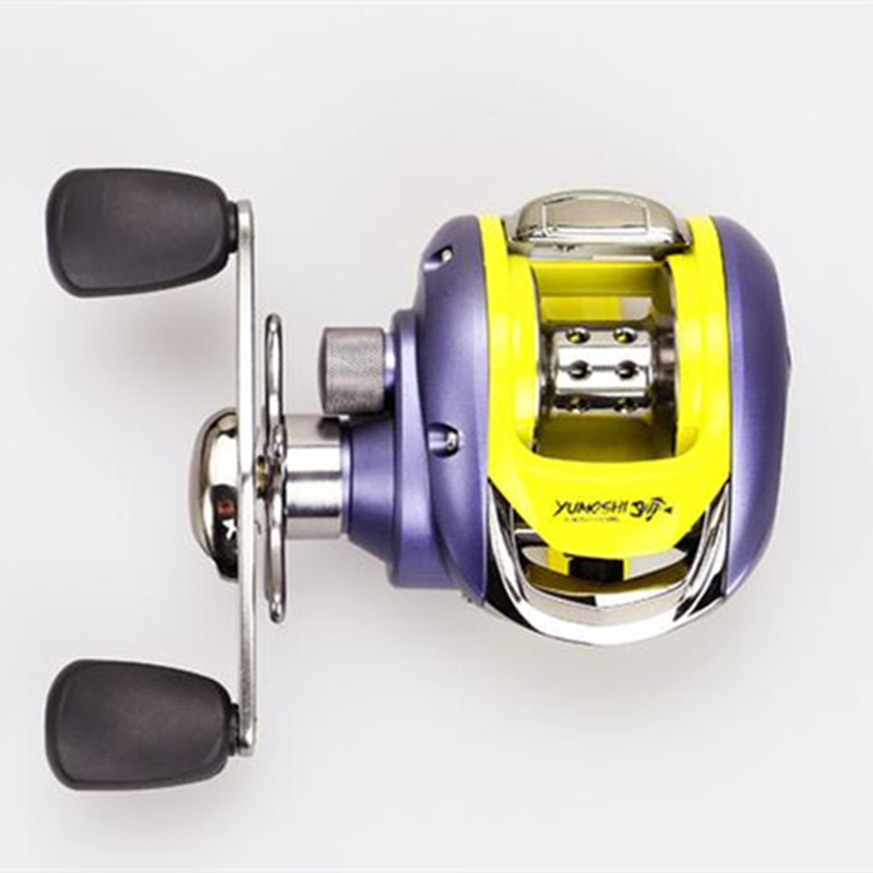 1Pcs/thread empty metal aluminum wheels fishing reel 6.2:1 dual brake,left/right hand,a key to quick release system.(China (Mainland))