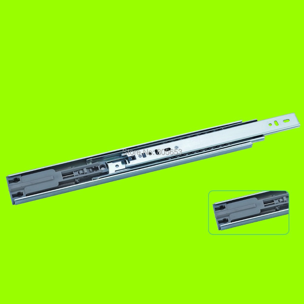 wholesale super smooth three-fold buffering full-extension cabinet drawer slide 20 inch(DS1411-20)(China (Mainland))