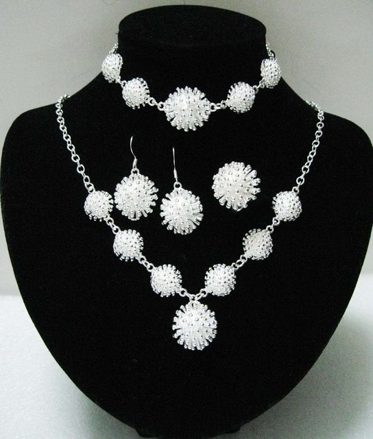 EVYSTZ (31) Free shipping wholesale price fashion silver flower jewelry sets for women fashion silver jewelry hight quality