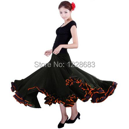 High Quality Black Red Spandex Lycra Spain Dancing Girls Flamenco Dress Costume Traje De Flamenca Long Skirt Flamenco Costumes