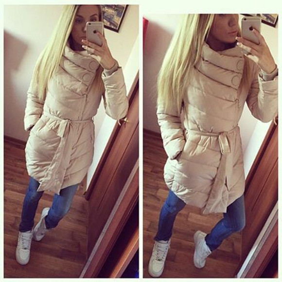 Womens Winter Jackets And Coats 2017 New Solid No Zipper Thick Full 50% Cotton Long Good Quality Special Offer Warm Dress