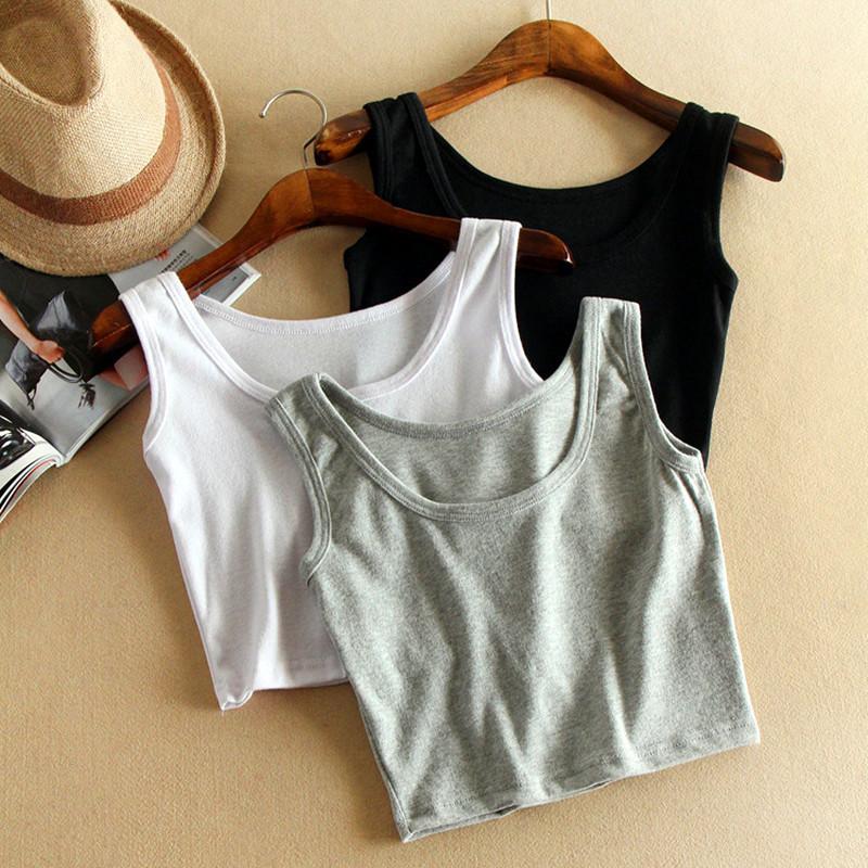 Women Short Sport Crop Top,7 Colors Summer Style Sleeveless U Croptops Fitness Gym Tank Tops,Femme Vest Tube Top